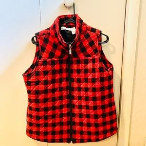 Flannel Vest ❤️🖤❤️🖤